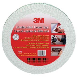 3M 4016 1 2X36YD 1 2 x 36 Yards Double Sided Foam Tape