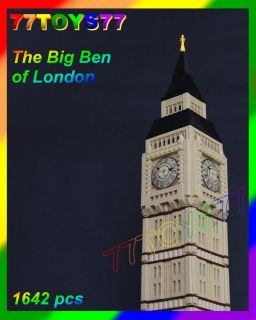 Wange Bricks Big Ben Minifig Bricks London No Box Loose Tower 1642 Pcs