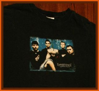 Evanescene Amy Lee Ben Moody Rock Tour T Shirt L