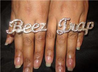 Iced Out Nicki Minaj Beez in The Trap Ring Set Pink Friday Roman