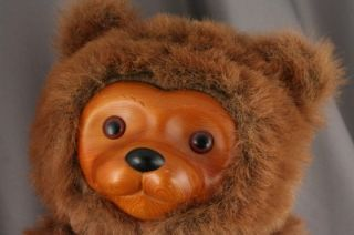 Robert Raikes Bears Le Large Plush Wood Face Applause