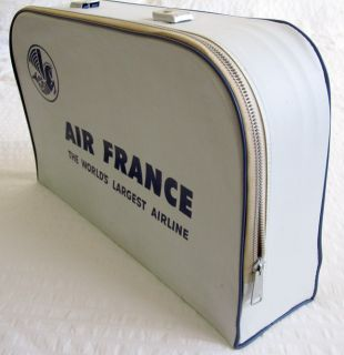 Vintage Air France Mini Suit Case Carry on Duffel Tote Bag