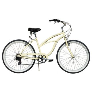 Beach Cruiser Bicycle Firmstrong URBAN 26 7 Speed Womens VANILLA bike