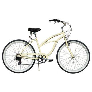 Beach Cruiser Bicycle Firmstrong URBAN 26 7 Speed Womens VANILLA bike