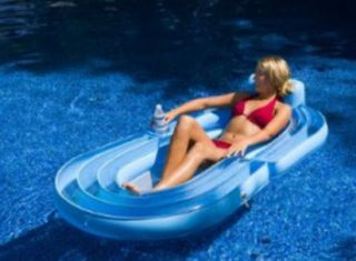 Inflatable Pool Lake Tube Float Raft Beach Mesh Lounger