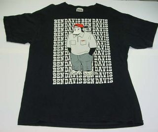 BEN DAVIS MONKEY GARAGE MECHANIC WORK T SHIRT Sz Mens XL Black