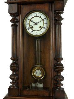 Antique Gustav Becker wall clock enameled RA Pendulum at 1900