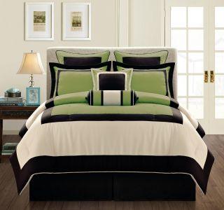 Black Micro Fiber Bed in A Bag Comforter Set King Size Bedding