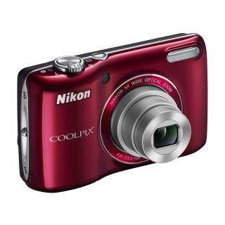 16 1MP Nikon Coolpix L26 Digital Camera Deep Red