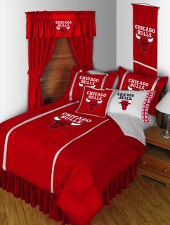 Bulls Comforter Sheets Basketball Bed in Bag Twin Bedding Set