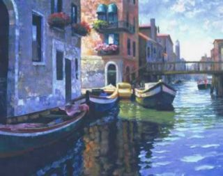 morning light venice by howard behrens canvas image size 9 x12 edition