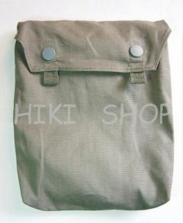 GERMAN WWII gas mask cape pouch Reproduction grey   Click Image to