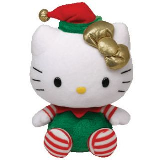 Holiday Outfit Gold Bow Christmas Ty Beanie Baby Plush Toy
