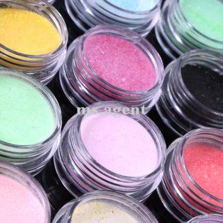 18 Color Nail Art Acrylic Powder Glitter for Acrylic Liquid Pen Cup