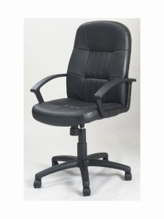 Black Leather High Back Executive Office Chair