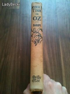 Antique Rinkitink Wizard of oz L Frank Baum Fairy Tale Book