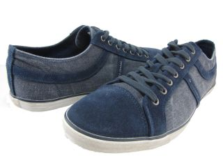 Hugo Boss Mens Beckville Blue Demin Lo Lace Casual Fashion Sneakers