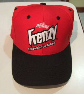 New Berkley Frenzy Fishing Cap Never Worn Fish Feed On The Action