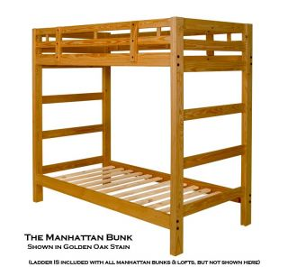 The Twin Manhattan Bunk Bed Frame is a Super Convenient & Extra Tall
