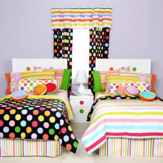 Matched Girls Zany Black Twin Bed in A Bag Littelmissmatched