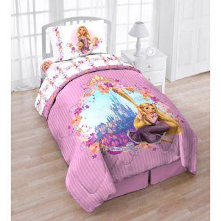 4pc DISNEY TANGLED TWIN BED IN BAG   Princess Rapunzel Pink Floral