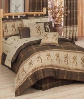 Browning Buckmark Comforter Queen Bed in Bag 8 Pce Set Cabin