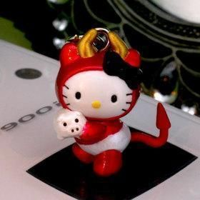 Kitty Pendant Charm with Strap Bell for Mobile Phone HK379 2cm