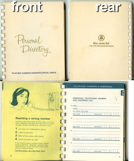 Bell Telephone Personal Directory Book Unmarked Vintage 1967 New