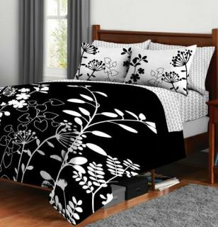 Black And White Bed N A Bag Queen Set