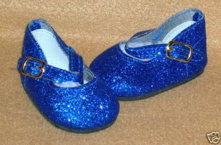 American Girl Doll Clothes Royal Blue Sparkle Dress Shoes