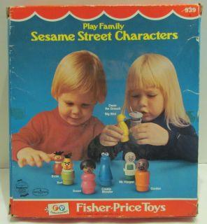 Sesame Street 8 Figure Set 939 in Box 1975 Bert Ernie Big Bird