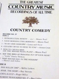 MINT Roger Miller   Minnie Pearl   Ray Stevens 2 Red Vinyl LP Box Set