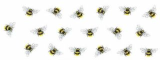 18 Black Yellow Bumble Bee Bees Flying Insect 1 Watrslide Ceramic