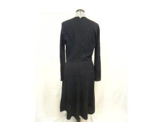 Geoffrey Beene Navy Blue Long Sleeve Dress 12 Vintage