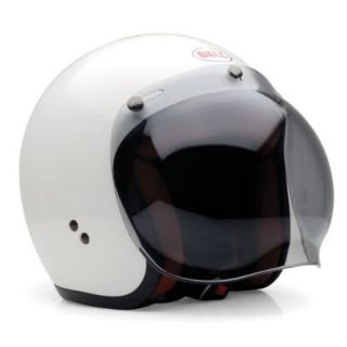 Bell R T Open Face Smoke Bubble Visor Motorcycle Helmet