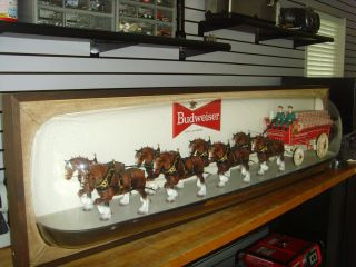 Vintage Budweiser Beer World Champion Clydesdale Horse Team 6 Foot