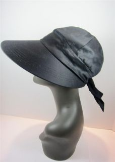 Ladies Hat Vintage Betmar Visor Face Framer Sunhat Wide Brim Black