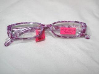 nwt betsey johnson purple roses reader glasses 2 0