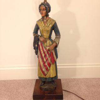 Vintage Betsy Ross Revolutionary War Figure Lamp Americana Dunning