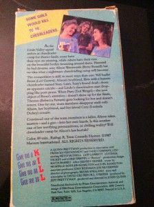Cheerleader Camp VHS Slip Prism Betsy Russell Leif Garrett Lucinda