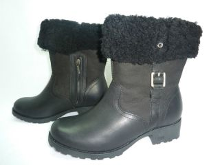 UGG Australia Womens Bellvue II Size 8 Black Boots Shoes
