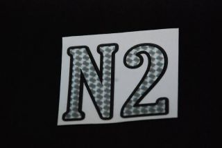 N2 decal for Washburn nuno bettencourt guitar