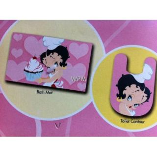 New 2 PC Bathroom Rug Set Betty Boop Bath Mat Pink Toilet Contour Rugs