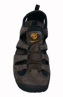 Timberland Mens Sandals Belknap Dark Brown Leather 58110 Sz 10 5 M