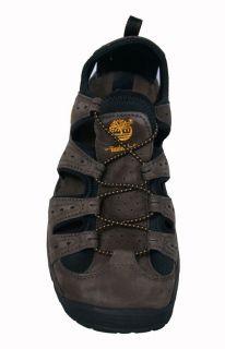 Timberland Mens Sandals Belknap Dark Brown Leather 58110 Sz 10 5 M