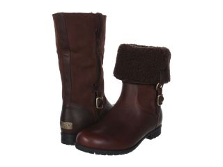 UGG Bellevue III Waterproof Leather Fashion Shearling Boots Brown