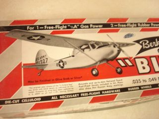 Berkeley Cessna L 19 Bird Dog Control Line Model Airplane Kit
