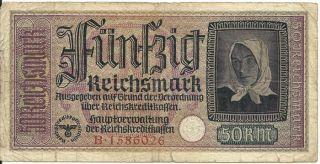 1943 nazi german swastika paper money ww2 shipping info