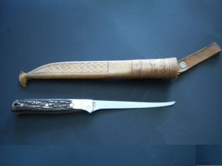 Schrade Uncle Henry Walleye Fish Fillet Knife High Cabon Steel W