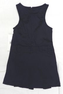 French Toast School Uniform Buckle Snap Pocket Jumper Dress Navy Blue